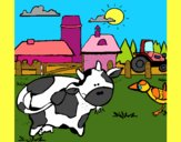 Dibujo Vaca en la granja pintado por BellaDulce