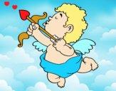 Dibujo Cupido con su flecha pintado por martanoemi