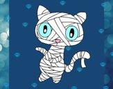 Dibujo Gato garabato momia pintado por teuQihcoX