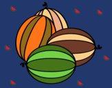 Dibujo Melones pintado por linda423