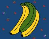 Dibujo Plátanos pintado por linda423