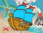 Dibujo Barco de vela pintado por juaqu
