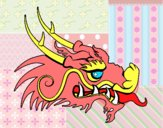 Dibujo Cabeza de dragón rojo pintado por Lucia626