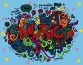 Dibujo Collage musical pintado por linda423