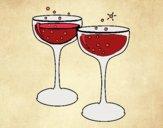 Dibujo Copas de champán pintado por vane21mlr