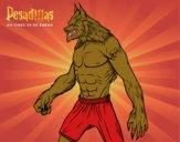 Dibujo El hombre Lobo pintado por mikei