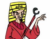 Dibujo Faraón enfadado pintado por ASHLY-