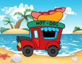 Food truck de perritos calientes
