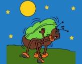 Hormiga y cacahuete