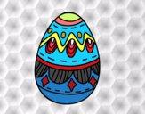 Huevo de Pascua con Rombos