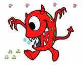 Dibujo Monstruo con un ojo pintado por brendibu