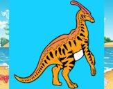 Parasaurolofus con rayas