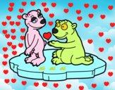 Pareja de osos enamorados