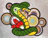 Dibujo Tatuaje de cobra pintado por joelitox
