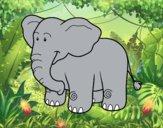 Dibujo Un elefante africano pintado por brendibu