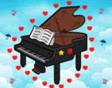 Dibujo Un piano de cola abierto pintado por boly