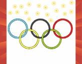 Anillas de los juegos olimpícos