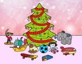 Dibujo Árbol de Navidad y juguetes pintado por guille_roc