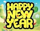 Dibujo Feliz año nuevo pintado por noramision