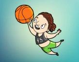 Dibujo Jugadora de voleibol pintado por annie9000