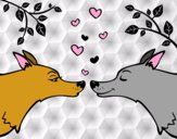 Lobos enamorados