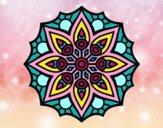 Dibujo Mandala simetría sencilla pintado por allison12