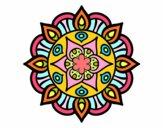 Dibujo Mandala vida vegetal pintado por diana001