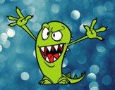 Dibujo Monstruo malo pintado por kikinxita