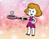 Niña con raqueta