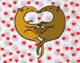 Osos hormigueros enamorados