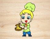 Dibujo Pequeño chef pintado por nido