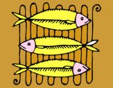 Pescado a la brasa