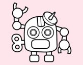 Robot con antena