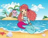 Dibujo Sirena y medusa pintado por Mia2006