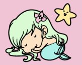 Sirenita chibi durmiendo