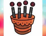 Dibujo Tarta con velas pintado por annie9000