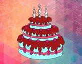 Dibujo Tarta de cumpleaños pintado por Bella-Luna