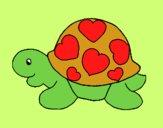 Tortuga con corazones