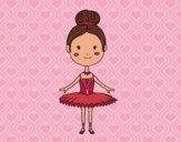 Dibujo Una bailarina de ballet pintado por flore850