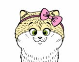 Una gatita con lazo