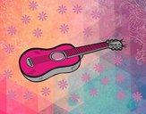 Dibujo Una guitarra acústica pintado por Fandy