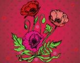 Dibujo Unas amapolas pintado por kikinxita