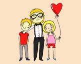 Dibujo Padre e hijos pintado por agu999