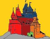 Dibujo Castillo medieval pintado por amalia