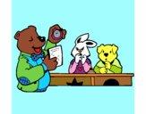 Profesor oso y sus alumnos
