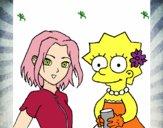 Dibujo Sakura y Lisa pintado por sherlyn21