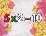 5 x 2