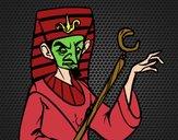Dibujo Faraón enfadado pintado por amalia