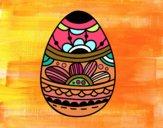 Huevo de Pascua estampado floral