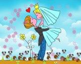 Dibujo Puedes besar a la novia pintado por SRS33
